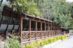 La galleria di legno dell'isola del xiaodeng immagine stock libera da diritti