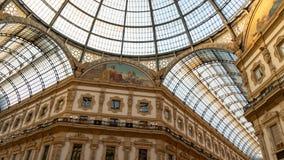 La galleria di Milano dal centro immagine stock libera da diritti