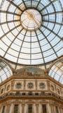 La galleria di Milano dal centro fotografia stock libera da diritti