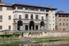 La galleria di Uffizi a Firenze, Italia fotografie stock libere da diritti