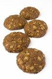 La galleta del cacao con avena-forma escamas Imagenes de archivo