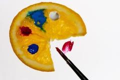 La gama del pintor anaranjado Imagenes de archivo
