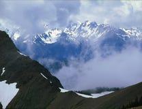 La gama olímpica del rastro encima de la montaña de los alces, la región del Rainshadow, parque nacional olímpico, Washington Fotos de archivo libres de regalías