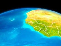 La Gambie en rouge Photo libre de droits