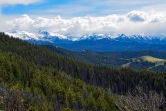 La gamma di Absaroka dalla strada principale scenica 296, Wyoming fotografia stock libera da diritti