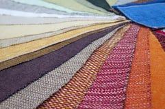 La gamma di colori della tappezzeria della mobilia Fotografie Stock
