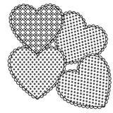 la gamme de gris figure l'icône de coeur Photographie stock libre de droits