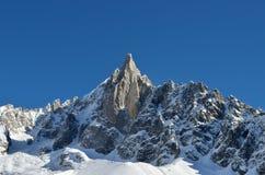 La gamme de montagne d'Aiguilles du Midi à Chamonix Photographie stock