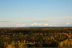 La chaîne d'Alaska en automne Photographie stock