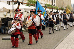 La garde Change chez Alba Carolina Fort, Alba Iulia, Roumanie Images libres de droits