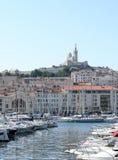 La garde de Notre Dame De à Marseille, France Images stock