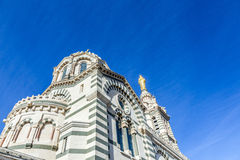 La Garde de Notre Dame de em Marselha Imagens de Stock