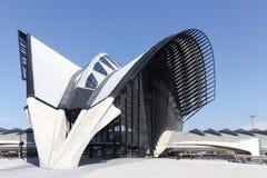 La gare ferroviaire s'est reliée à l'aéroport d'Exupery de saint à Lyon, France Images libres de droits