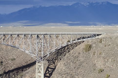 La garganta de Rio Grande, New México Foto de archivo