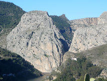 La Garganta at El Chorro. La Garganta Gorge at El Chorro Royalty Free Stock Photography