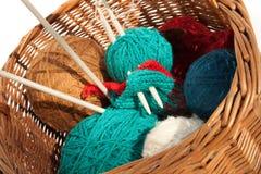 La garniture brune avec le tricotage Photographie stock