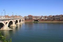 La Garona a Toulouse. Fotografia Stock
