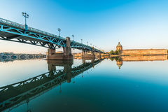 La Garonne passing through Toulouse, France Royalty Free Stock Images