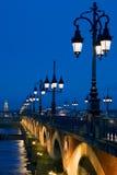 La Garonne van Pont Sur van het perspectief Stock Afbeeldingen