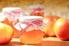 La gelée de pomme faite maison cogne des pommes photos libres de droits