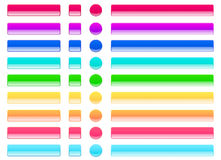 La gelée de Web boutonne des couleurs claires Photo stock