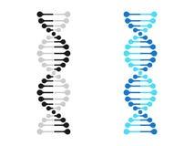 La genetica del cromosoma dell'icona del DNA vector la molecola del gene del DNA illustrazione di stock