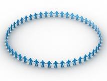 la gente 3d in un cerchio enorme illustrazione di stock