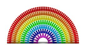La gente 6 del Rainbow Fotografia Stock