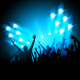 La gente ad un concerto Fotografia Stock Libera da Diritti
