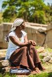 La gente in AKSUM, ETIOPIA Immagini Stock Libere da Diritti