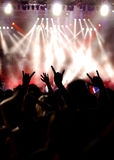 La gente al concerto   Fotografie Stock