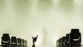 La gente al concerto di musica in diretta fotografia stock