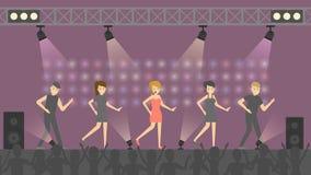 La gente al concerto di schiocco illustrazione di stock