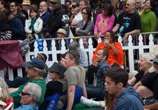 La gente al festival di jazz del Fillmore a San Francisco Fotografie Stock Libere da Diritti