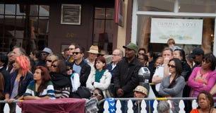 La gente al festival di jazz del Fillmore a San Francisco Fotografia Stock Libera da Diritti