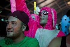 La gente al festival di musica di estate Fotografie Stock