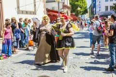 La gente al giorno della via di christopher a Francoforte Immagine Stock Libera da Diritti