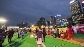 La gente al grande carnevale europeo 2014, Hong Kong Immagine Stock Libera da Diritti