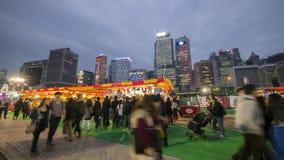 La gente al grande carnevale europeo 2014, Hong Kong Fotografia Stock Libera da Diritti