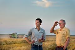 La gente al raccolto Fotografia Stock