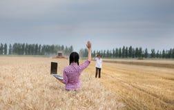La gente al raccolto Fotografie Stock Libere da Diritti