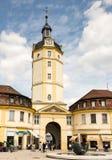 La gente al tor di Herrieder a Ansbach Immagine Stock Libera da Diritti