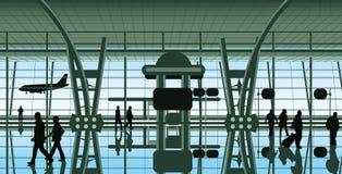 La gente all'aeroporto Immagine Stock