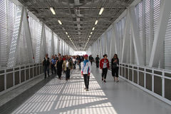 La gente all'Expo 2015 Fotografie Stock