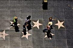 La gente alla passeggiata di fama Fotografia Stock Libera da Diritti