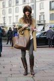 La gente alla settimana di modo di Milano Fotografie Stock