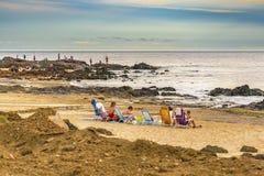 La gente alla spiaggia, Maldonado, Uruguay Fotografia Stock