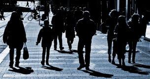 La gente alla via Fotografia Stock