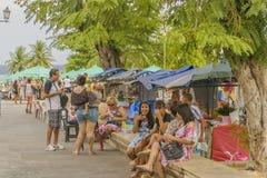 La gente alla via Olinda giusto, Brasile Fotografie Stock