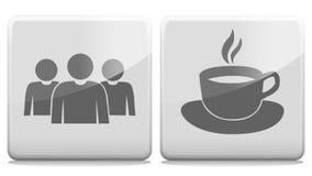 La gente Alpha Channel Loop del caffè